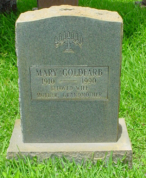 Mary Goldfarb, Gravestone